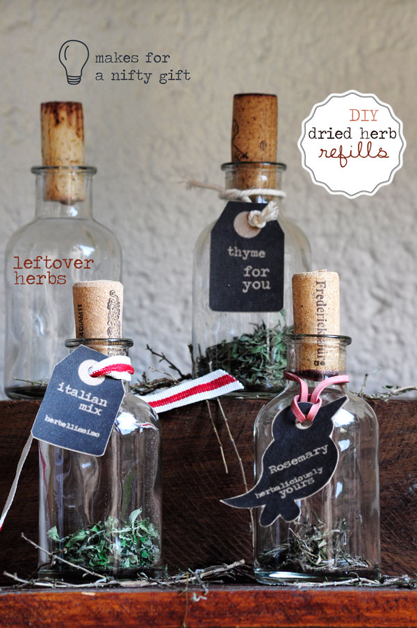 DIY Dried Herb Refills