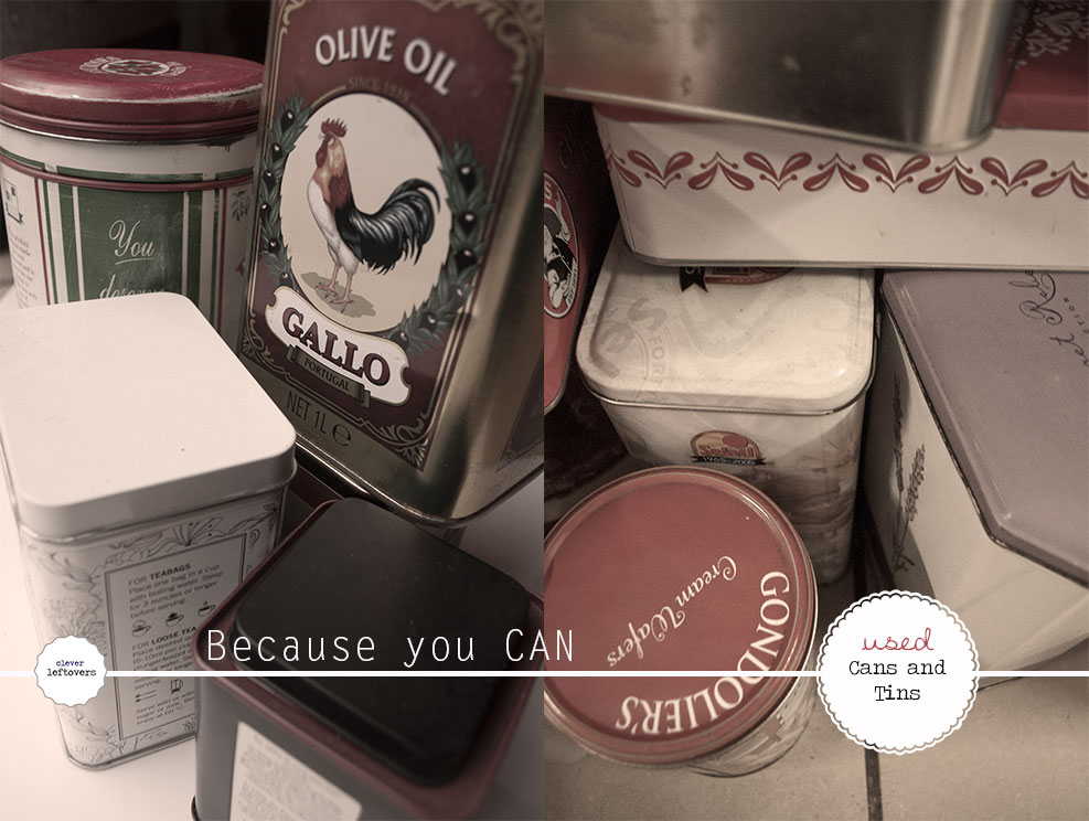Used cans and tins get a new life